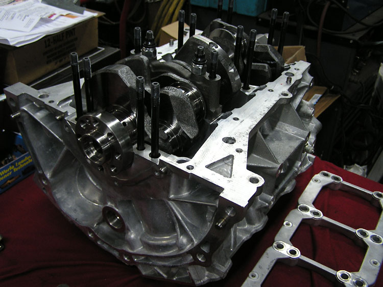 FLI custom built low compression VG35 turbo engine using Cosworth parts