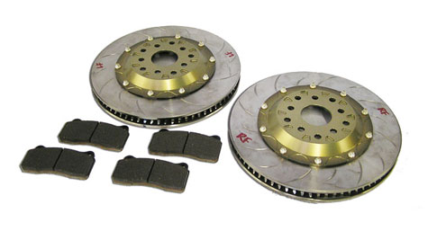 FLI or Fine Line Imports Subaru STI Stage 2.5 Brake Kit using Pagid brake pads 4-2-1