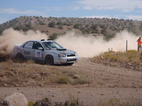 Team Up Two Mountains Rally at Prescott Rally 2009